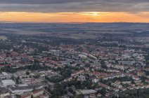 Aerial view of Halberstadt in the evening, Germany — Stock Photo