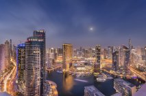UAE, Dubai, view to Dubai Marina by night — Stock Photo