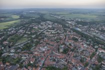 Aerial view of Quedlinburg with St. Nicholas' Church at daytime, Germany — Stock Photo