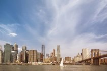 View of Manhattan skyline and East River at daytime, New York City, USA — Stock Photo