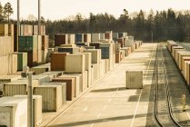 Germany, Bavaria, containers at freight yard — Stock Photo
