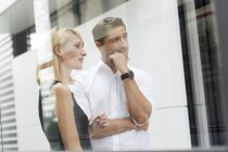 Two business partners watching something — Stock Photo