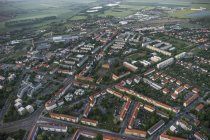 Germany, aerial view of Halberstadt in the evening — Stock Photo