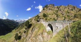 Italia, passo di montagna dell'Alto Adige, Val Passiria, passo del rombo — Foto stock