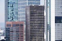 Edifícios do distrito financeiro de Alemanha, Frankfurt, como visto de Domturm — Fotografia de Stock