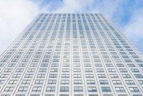 Bottom view of skyscraper at daytime, London, UK — Stock Photo