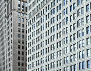 USA, Illinois, Chicago, High-rise building, facades with windows during daytime — Stock Photo