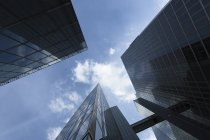Bottom view of facades of Highlight Towers at daylight, Munich, Germany — Stock Photo