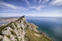 Rocher, vue sur la mer Méditerranée, Gibraltar — Photo de stock