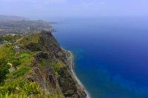 Portogallo, Madera, veduta aerea della costa atlantica — Foto stock