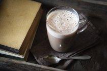 Glas vegane heiße Schokolade — Stockfoto