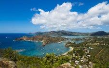 Vista aerea di English Harbour e Windward Bay al giorno, Antigua e Barbuda, Antille — Foto stock