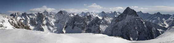 France, Isere, Les Deux Alpes, view from La Grave on rocky mountains — Stock Photo