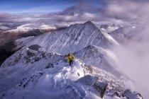 Scotland, Glencoe, Beinn a'Bheithir,  mountaineering in winter — Stock Photo