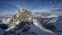 Scozia, Glencoe, Beinn a'Bheithir, alpinismo invernale — Foto stock
