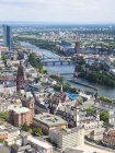 Cityscape with Main river at Frankfurt, Hesse, Germany — Stock Photo