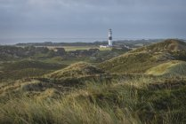 Campos verdes e Rotes Kliff farol — Fotografia de Stock
