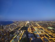 USA, Illinois, Chicago, View from Willis Tower at  blue hour — Stock Photo