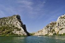 Хорватія, Національний парк Крка, краєвид з рок в денний час — стокове фото