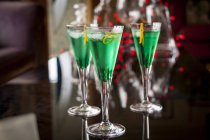 Cocktail con liquore alla menta — Foto stock
