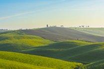 Itália, Toscana, Val d 'Orcia, vista para a paisagem rolante — Fotografia de Stock