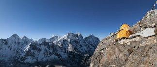 Nepal, Himalaya, Solo Khumbu, Camp 2, Ama Dablam South West Ridge during daytime — Stock Photo