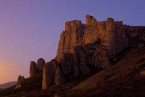 Spagna, La Rioja, Formazione rocciosa in Valle d'Iguera — Foto stock