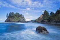 Stati Uniti, California, Contea di Humboldt, Eureka, Trinidad State Beach, Isola di Pewetole — Foto stock