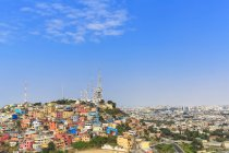 South America, Ecuador, Guayas Province, Guayaquil cityscape and blue sky — Stock Photo