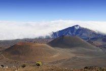 США, Гавайи, Мауи, Халеакала, вулканический пейзаж с гаревая конуса — стоковое фото
