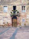 Італія, Тоскана, Montefollonico, старий будинок — стокове фото