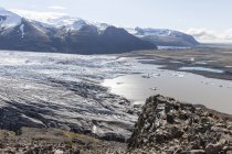 Islândia, ao sul da Islândia, do Parque Nacional Skaftafell, Skaftafellsjoekull — Fotografia de Stock