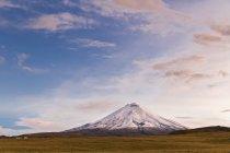 South America, Ecuador, Andes, Volcano Cotopaxi and cloudy sky — Stock Photo