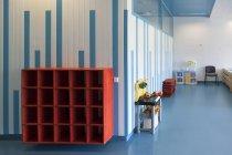 Estonia, empty shoe rack in a newly built kindergarten — Stock Photo