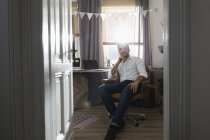 Man at his home office — Stock Photo