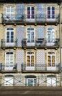 Typical house facades — Stock Photo