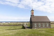Iceland, Hvalnes, view to little church during daytime — Stock Photo