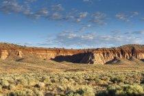 Vue panoramique du paysage dans le parc national Cathedral Gorge pendant la journée, Nevada, États-Unis — Photo de stock