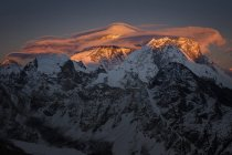 Região de Khumbu, Nepal Everest, pôr do sol no Everest do cume do Gokyo ri — Fotografia de Stock