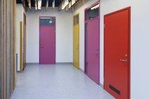 Corridor of a newly built kindergarten indoors — Stock Photo