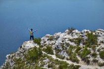 Uomo tifo per la montagna — Foto stock