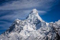 Regione del Khumbu, Nepal Everest, Namche Bazaar, Ama Dablam Monte durante il giorno — Foto stock