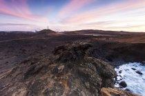 Исландия, Reykjanesskagi, геотермальная зона в дневное время — стоковое фото
