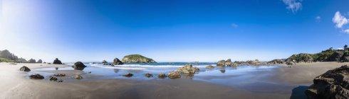 EUA, parque de estado de Oregon, Oregon, Harris Beach State Park, praia, Panorama — Fotografia de Stock