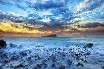 Spain, Ibiza, Cala Comte at blue hour — Stock Photo