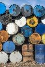 Болгарія, купу нафти барабани — стокове фото