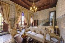 Maroc, Fes, Hotel Riad Fes, hôtel suite à l'intérieur — Photo de stock