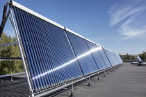 Solar panels on the roof of newly built kindergarten — Stock Photo