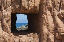Італія, Сардинія, Tortoli, червоний порід Arbatax, скелі з червоного порфіру — стокове фото