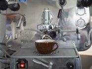 Italian espresso maker in German kitchen — Stock Photo